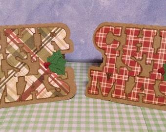 Small Plaid Christmas Cards Handmade