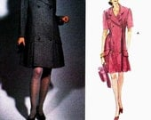 PATTERN Vogue 2953 Double breasted coat dress with pleats Size 6-8-10 Hartnell London (OOP/Rare/Uncut) Vogue Designer Original