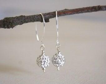 Crystal Pave Earrings, Wedding, Sparkly, Long Earrings, Modern