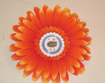 Florida Gators Flower Hair Clip By Sweetpeas Bows & More