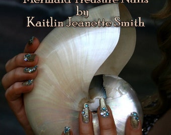 Mermaid Treasure Artificial Nail Art As Seen In NAILS Magazine July 2013
