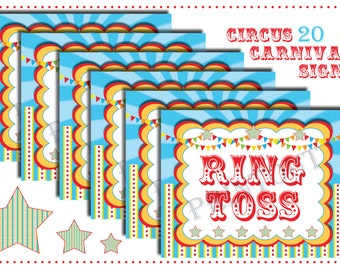 Circus/Carnival Signs-Circus Theme Signs-Circus Games-INSTANT DOWNLOAD