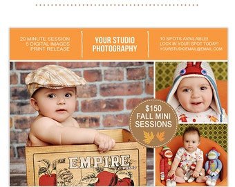 Fall Marketing Template for Photographers Photography Marketing Templates Photoshop Templates for Photographers Marketing Board - AD127