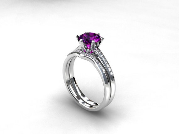 like this item - Amethyst Wedding Rings