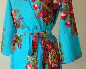 DD1 Bridesmaids robes, floral Bridesmaid robe, bridal party robes, wedding favors for bridesmaids and maid of honor