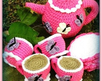 Kid's Crocheted Teaset