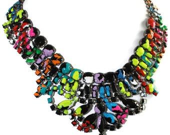Splatter Vintage Statement Necklace