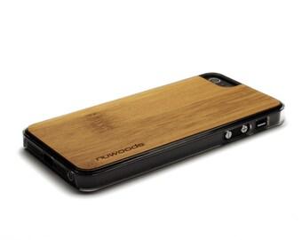 iPhone 5 Case Wood Caramel Bamboo, Wood iPhone SE Case, iPhone 5S Case Wood
