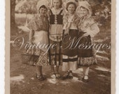 Original French Vintage Postcard - Real photograph - Sent in 1958 - French writing - Postage stamp