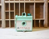 Vintage Mint Green Tower Snappy RARE 1950s WORKING Camera