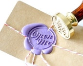 Personalized Open Me Gold Plated Wax Seal Stamp x 1 - BacktoZero
