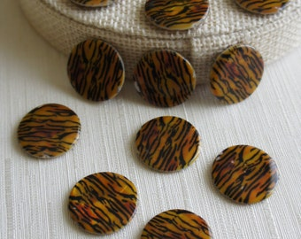 Bead, precious, gemstone, natural, stone, nugget Colorful Shell Oval Shape Straight Hole Oblate Loose Bead - 10pcs