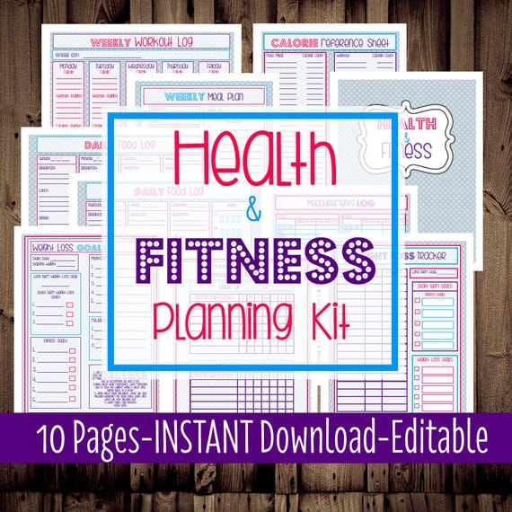 Fitness Printable Planner Weight Loss by MamasGotItTogether
