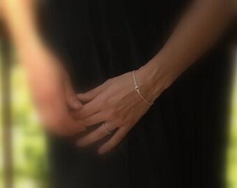 Swarovski Crystal Bracelet, Bridesmaids Gift, Sterling Silver Bridal Jewelry, Silver Bridesmaid Bracelet, Dainty Bracelet, Wedding Bracelet