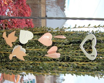 "Handcrafted ""Thoughts of Love"" Porcelain and Terracotta Wind Chime"