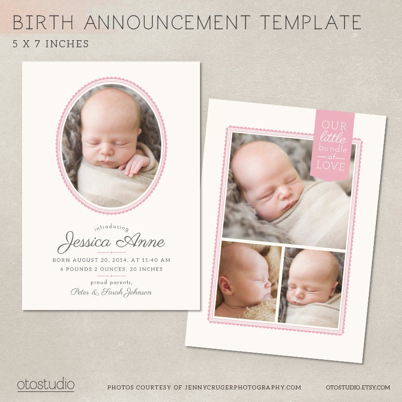 birth announcement template delicate frames cb012 psd. Black Bedroom Furniture Sets. Home Design Ideas
