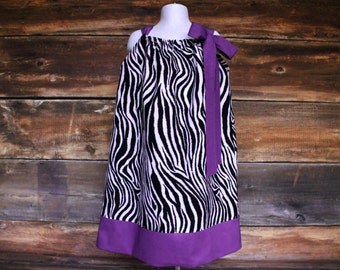 Zebra Pillowcase Dress - Animal Print (ANY TRIM) Newborn to Child Size 11/12 girls baby infant toddler fall Colorado Rockies spring outfit