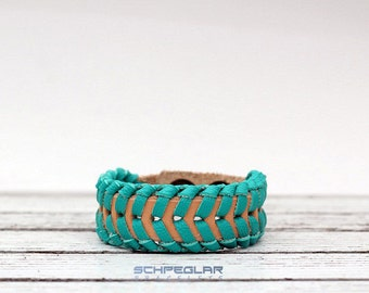 turquoise bracelet, braided bracelet