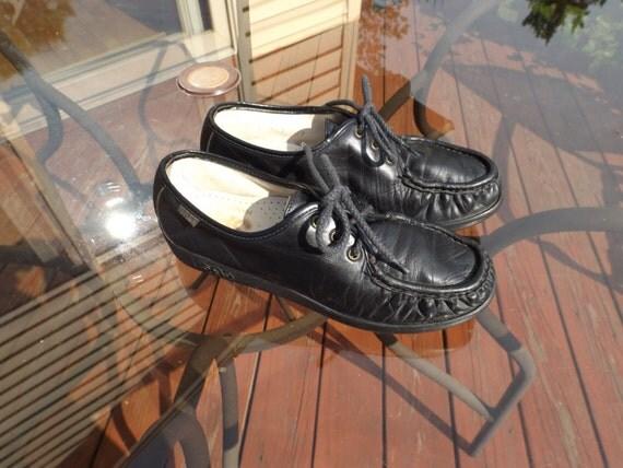 Sale SAS 7N women shoes .Black leather oxfords.Comfortable women, girl shoes.Walking comfortable  shoes. genuine handsewn