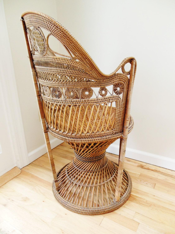 Wicker Chair Antique Ornate
