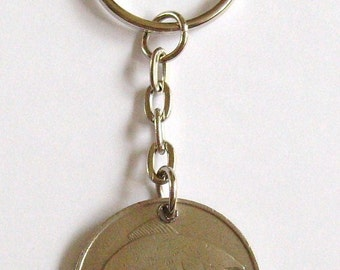 1976 Old Large 10p Ten Pence Deich bPingin Irish Coin Keyring Key Chain Fob 41st Birthday