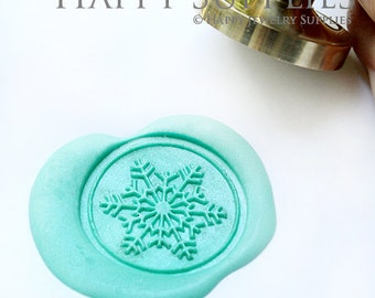 Buy 1 Get 1 Free - 1pcs Snowflake Gold Plated Wax Seal Stamp (WS015)