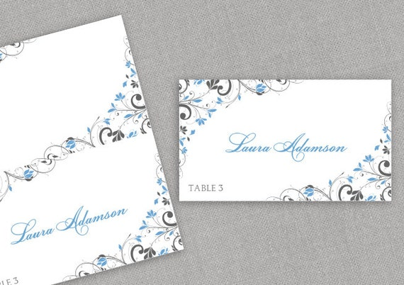 Place card template instant download editable by for Tent cards staples