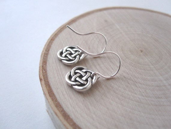 Silver Celtic Earrings, Celtic Knot Earrings