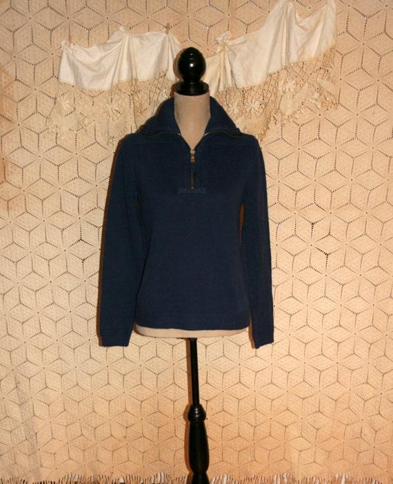 Womens Sweater Navy Zip 59