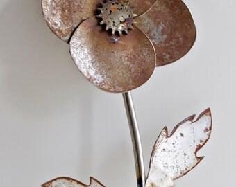 Metal Garden Flower Decor- Giant Flower Yard Stake, Naked