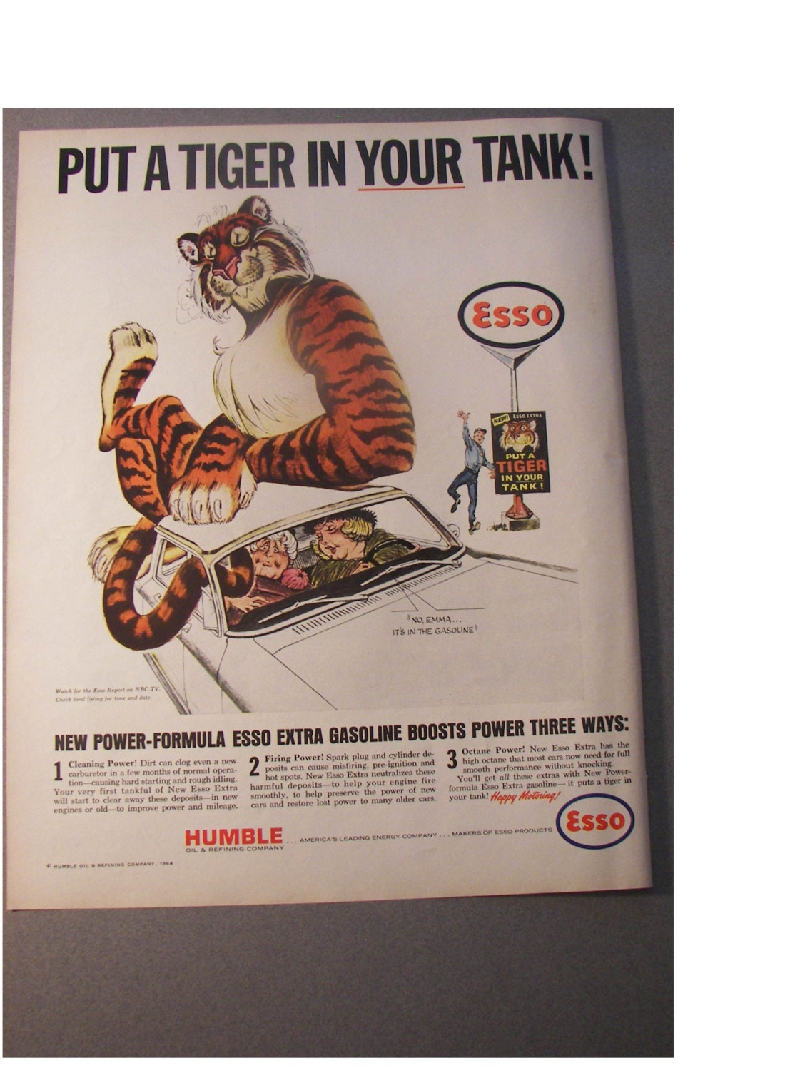 Esso Put a Tiger in your tank... Print by oldpaperandmore ...