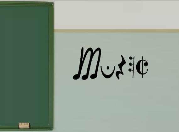 Classroom Decor Vinyl ~ Music decal in vinyl classroom decor teacher