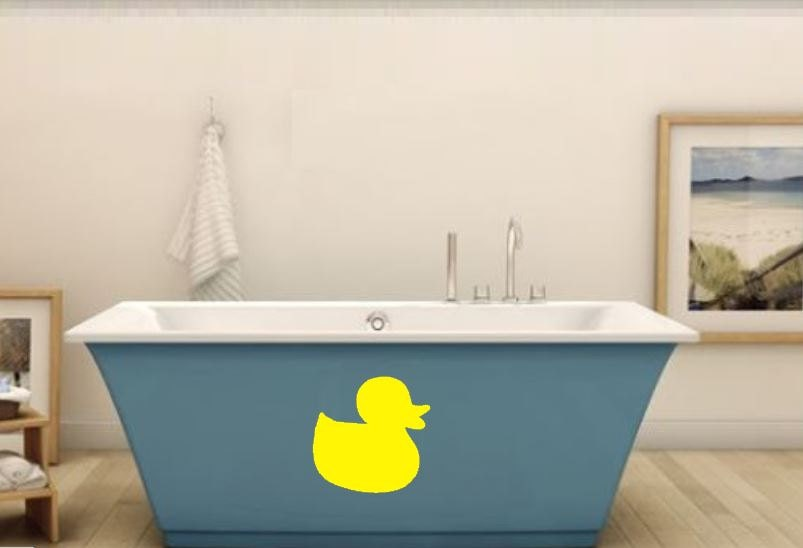 Rubber Duck Bathroom Wall Decal Bathroom Wall Rubber Ducky