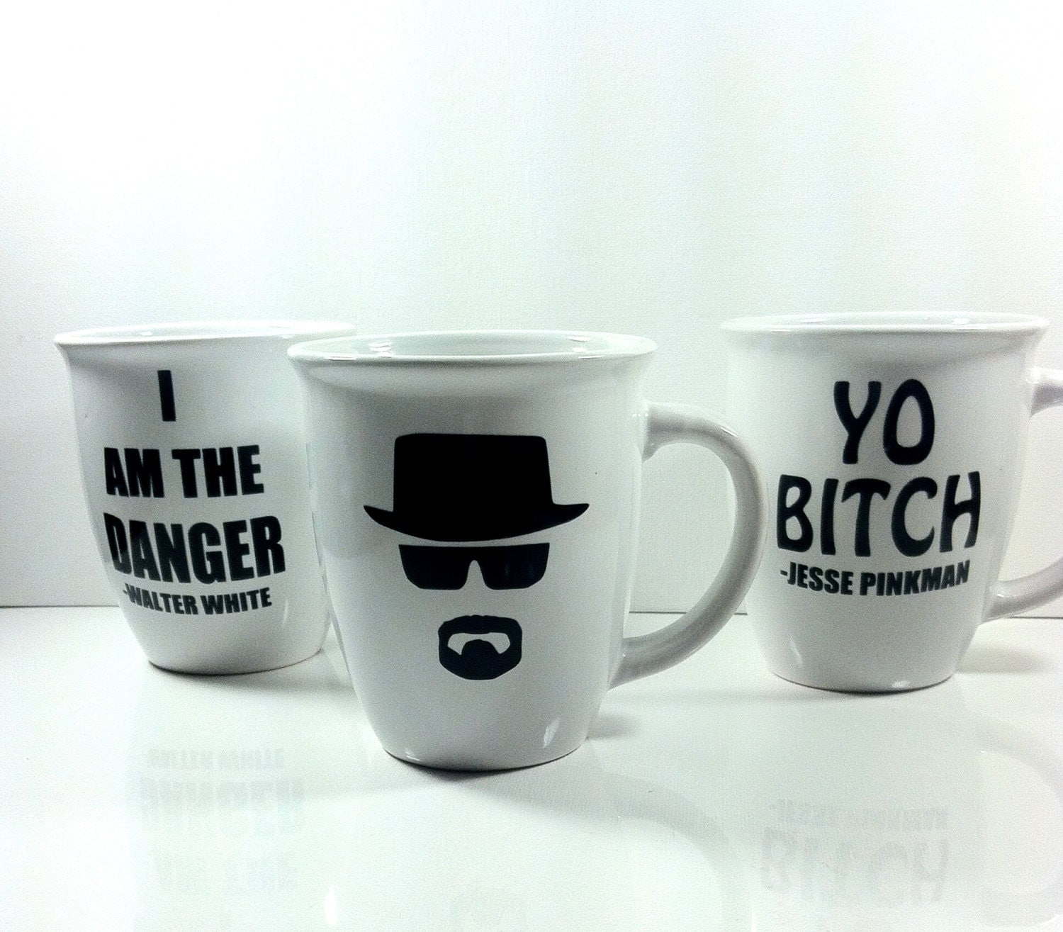 Breaking Bad Coffee Cup Set Coffee Mugs By Quiteuniqueboutique