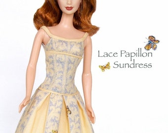 "Sewing pattern for 11 1/2"" doll (Barbie): Papillon Sundress"
