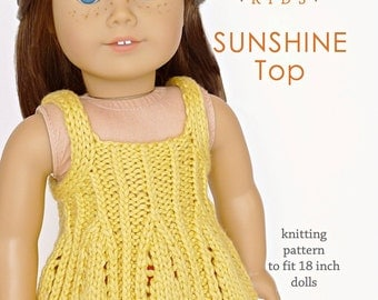 18 Inch Doll Clothes Knitting Patterns : Doll clothes knitting pattern PDF for 18 inch American Girl