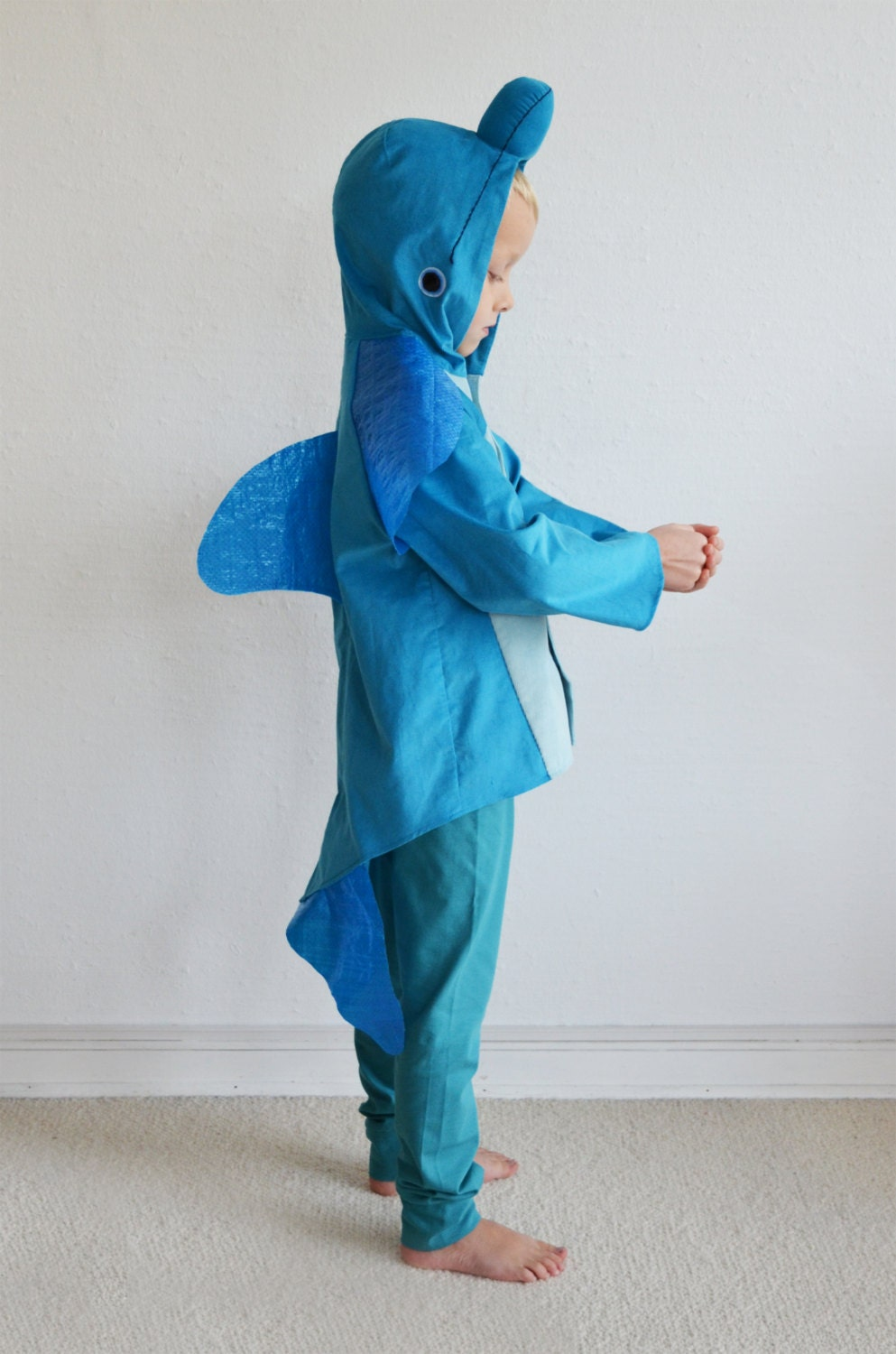 Dolphin kids costume fish whale blue whale shark for Kids fish costume