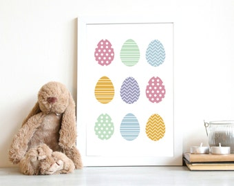 Easter Printable | Eggs Print | Easter Eggs Poster | Instant Download | Easter Party Decor | 8x10,A4 | Wall Art