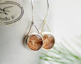 Map Earrings, Traveller Gift, Daughter Gift Under 50, Silver Earrings, Graduate Gift, Personalized Jewelry - The World is Your Oyster