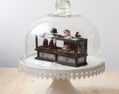 Miniature Pastry Shop Counter - Cake, Macarons, Croquembouche and Pâtisserie - Dollhouse 1/12 Scale