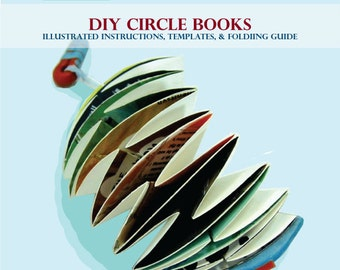 DIY eBook Tutorial How to make Accordion Circle Books - INSTANT DOWNLOAD