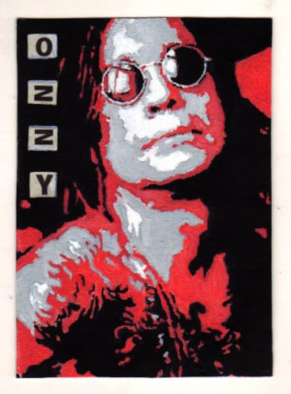 Items similar to Ozzy Osbourne Black Sabbath original pop ...
