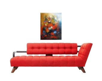 """Red Oil painting, oil 16""""x20""""  Abstract  oil on canvas original abstract painting"""