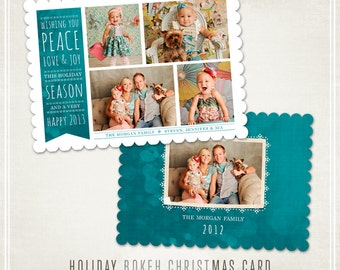Holiday Bokeh Christmas Card - WHCC & Millers Lab 5x7
