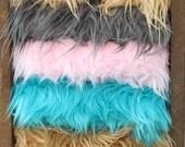 Faux Mongolian Fur Photo Prop 18 x 20-You choose color