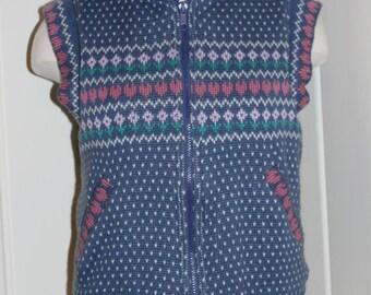 Vintage Fair Isle Reversible Ski Vest