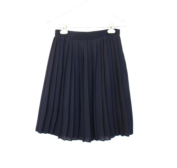 vintage semi sheer skirt accordion pleat pleated skirt by