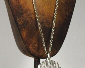 Vintage Silver Toned Necklace Pendant 1960s