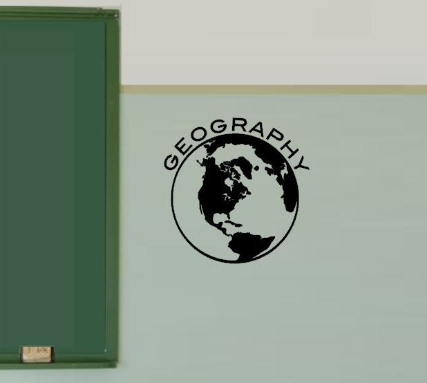 Geography Classroom Decor ~ Globe decal geography class decoration