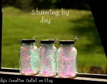 Solar Mason Jar - Fairy Lantern - Garden Decor - Outdoor Lighting - Fairy Decor - Solar Light - Mason Jar Light - Mason Jar Decor